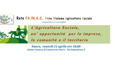 Nuoro: il 21 aprile 2017 un Convegno sull'Agricoltura sociale