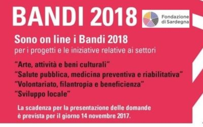 Fondazione di Sardegna, pubblicati i bandi 2018