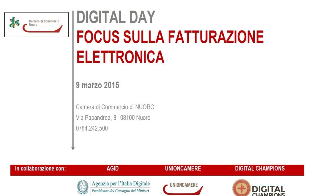 Nuoro, Digital Day sulla Fatturazione Elettronica