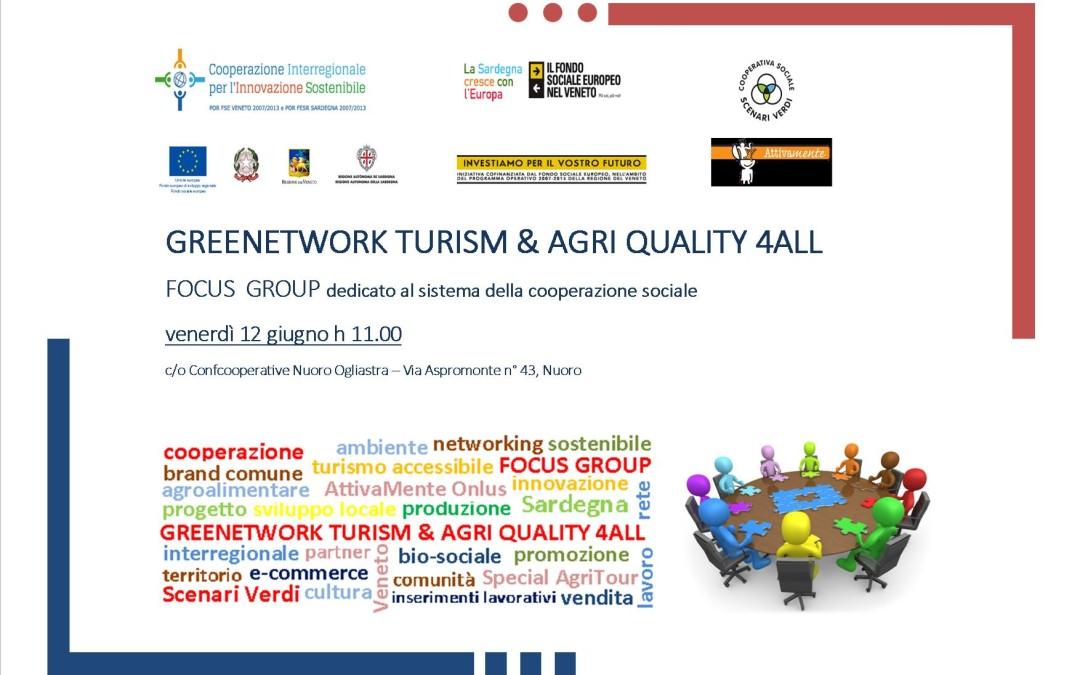 Progetto Greenetwork: il 12 giugno un focus group dedicato al sistema della cooperazione sociale