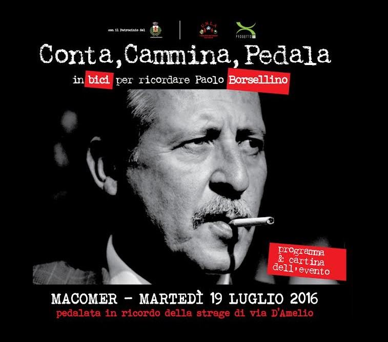 Conta, cammina, pedala: in bici per ricordare Paolo Borsellino