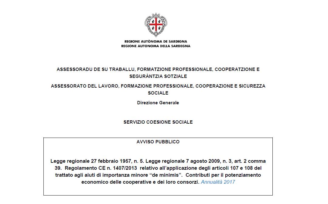 Potenziamento economico delle cooperative 2017 (legge regionale n. 5/1957), proroga al 30 giugno