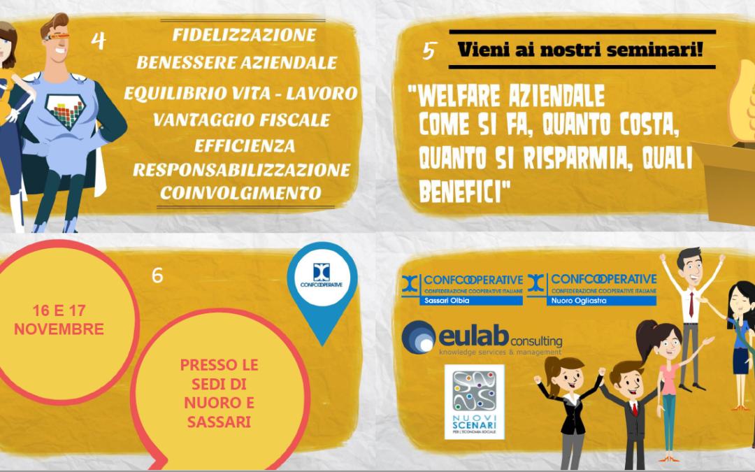 Welfare aziendale: seminari informativi per le cooperative a Nuoro e Sassari