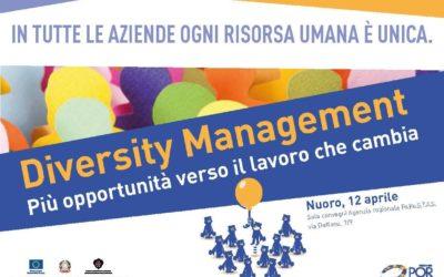 """""""Diversity Management. Più opportunità verso il lavoro che cambia"""" – Nuoro, 12 aprile"""
