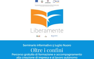 """Nuoro: il 5 luglio seminario di presentazione del corso gratuito sull'autoimprenditorialità """"Oltre i Confini"""""""