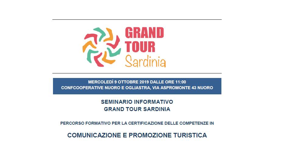 """Seminario di presentazione del corso gratuito """"COMUNICAZIONE E PROMOZIONE TURISTICA""""   NUORO, 9 ottobre 2019"""