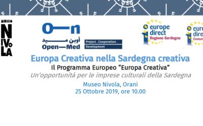 Europa Creativa nella Sardegna creativa – Il Programma europeo Europa Creativa   Museo Nivola, Orani, 25 Ottobre 2019