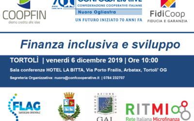 Seminario Finanza inclusiva e sviluppo | Tortolì, venerdì 6 dicembre 2019