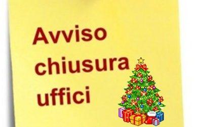Chiusura uffici | festività natalizie 2019