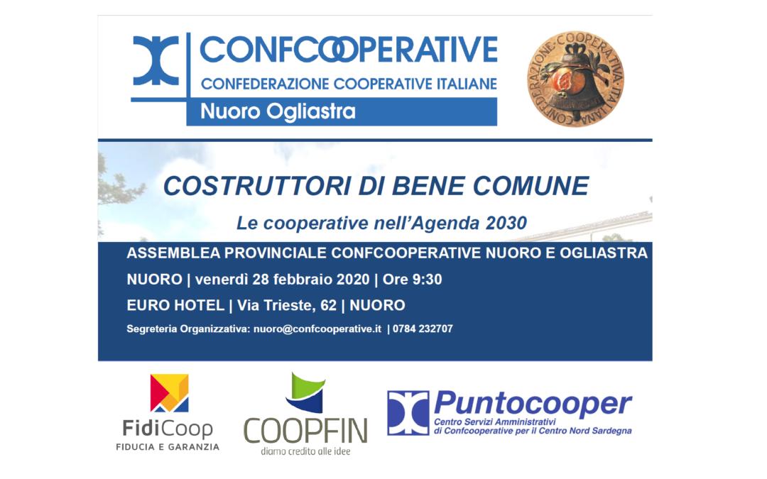 CAMBIO SEDE   Costruttori di Bene Comune. Le cooperative nell'Agenda 2030   Nuoro, 28 febbraio 2020