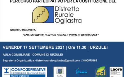 4° INCONTRO DI ANIMAZIONE TERRITORIALE DEL DISTRETTO RURALE OGLIASTRA   URZULEI, 17 settembre